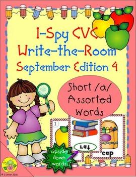 I-Spy CVC Mirror Words - Short /a/ Assorted Words (Sept. E