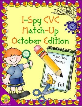 I-Spy CVC Match-Up - Assorted Vowels (October Edition)