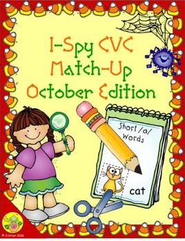 I-Spy CVC Match-Up - Short /a/ Assorted Words (October Edition)