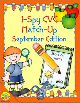 I-Spy CVC Match-Up - Short /i/ Assorted Words (September Edition)
