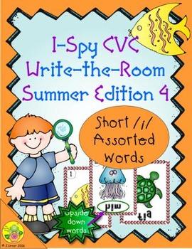 I-Spy CVC Mirror Words - Short /i/ Assorted Words (Summer