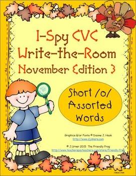 I-Spy CVC Mirror Words - Short /o/ Assorted Words (Nov. Ed
