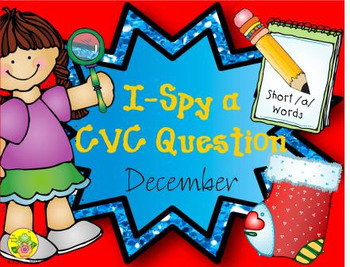 I-Spy CVC Questions - Short /a/ Words (December Edition)