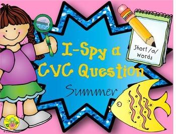 I-Spy CVC Questions - Short /a/ Words (Summer Edition)