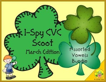 I-Spy CVC Scoot - Assorted Vowels Bundle (March Edition)
