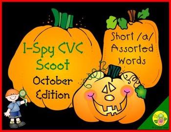 I-Spy CVC Scoot - Short /a/ Assorted Words (October Edition)