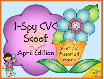 I-Spy CVC Scoot - Short /i/ Assorted Words (April Edition)