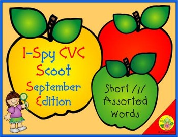 I-Spy CVC Scoot - Short /i/ Assorted Words (September Edition)