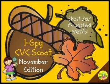 I-Spy CVC Scoot - Short /o/ Assorted Words (November Edition)