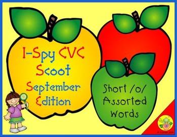 I-Spy CVC Scoot - Short /o/ Assorted Words (September Edition)