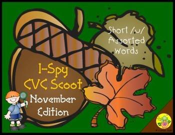 I-Spy CVC Scoot - Short /u/ Assorted Words (November Edition)