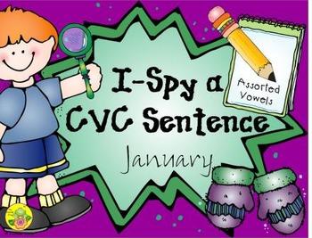 I-Spy CVC Sentences - Assorted Vowels (January Edition)