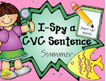 I-Spy CVC Sentences - Short /a/ Words (Summer Edition)
