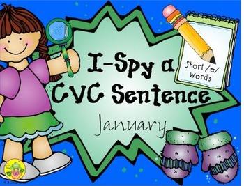 I-Spy CVC Sentences - Short /e/ Words (January Edition)