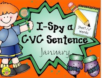 I-Spy CVC Sentences - Short /i/ Words (January Edition)