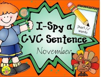 I-Spy CVC Sentences - Short /i/ Words (November Edition)