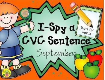 I-Spy CVC Sentences - Short /i/ Words (September Edition)