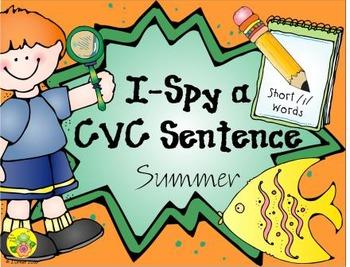 I-Spy CVC Sentences - Short /i/ Words (Summer Edition)