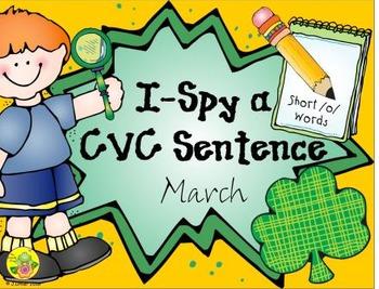 I-Spy CVC Sentences - Short /o/ Words (March Edition)