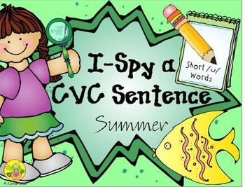 I-Spy CVC Sentences - Short /u/ Words (Summer Edition)