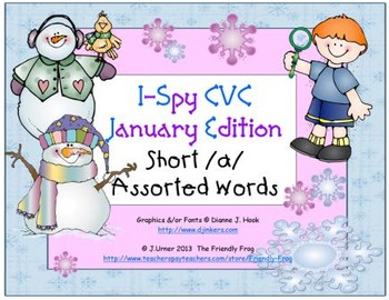 I-Spy CVC Learning Centers - Short /a/ Assorted Words (Jan