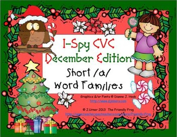 I-Spy CVC Learning Centers - Short /a/ Word Families (Dece