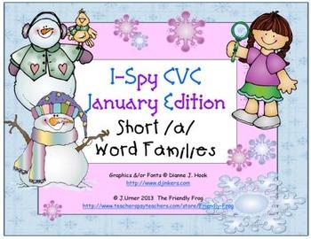 I-Spy CVC Learning Centers - Short /a/ Word Families (Janu