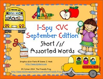 I-Spy CVC Learning Centers - Short /i/ Assorted Words (Sep