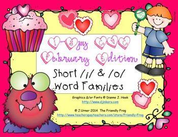 I-Spy CVC Short /i/ & /o/ Word Families (February Edition)
