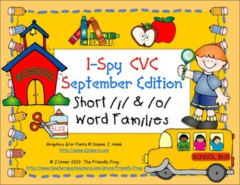 I-Spy CVC Learning Centers - Short /i/ & /o/ Word Families