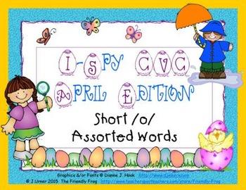 I-Spy CVC Short /o/ Assorted Words (April Edition)