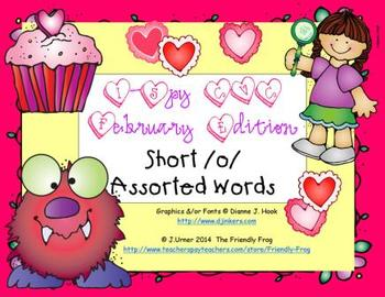 I-Spy CVC Short /o/ Assorted Words (February Edition)