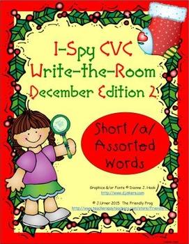 I-Spy CVC Tiny Words - Short /a/ Assorted Words (Dec. Edit