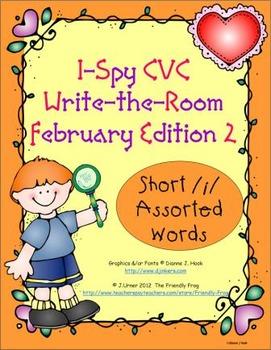 I-Spy CVC Tiny Words - Short /i/ Assorted Words (Feb. Edit