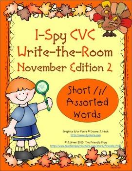 I-Spy CVC Tiny Words - Short /i/ Assorted Words (Nov. Edit
