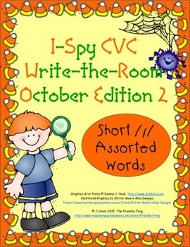 I-Spy CVC Tiny Words - Short /i/ Assorted Words (Oct. Edit
