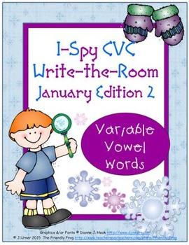I-Spy CVC Tiny Words - Variable Vowel Words (Jan. Edition) Set 2