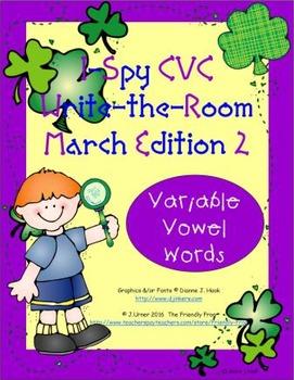 I-Spy CVC Tiny Words - Variable Vowel Words (March Edition) Set 2