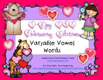 I-Spy CVC Variable Vowel Words (February Edition)