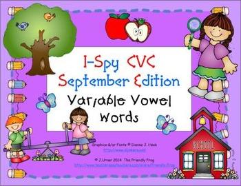 I-Spy CVC Learning Centers - Variable Vowel Words (Septemb