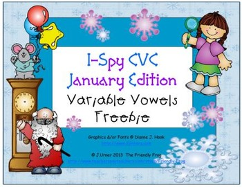 I-Spy CVC Learning Centers - Variable Vowels (January Edit
