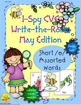 I-Spy CVC Word Work - Short /e/ Assorted Words (May Editio