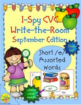 I-Spy CVC Word Work - Short /e/ Assorted Words (Sept. Edit
