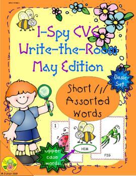I-Spy CVC Word Work - Short /i/ Assorted Words (May Editio