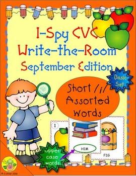 I-Spy CVC Word Work - Short /i/ Assorted Words (Sept. Edit
