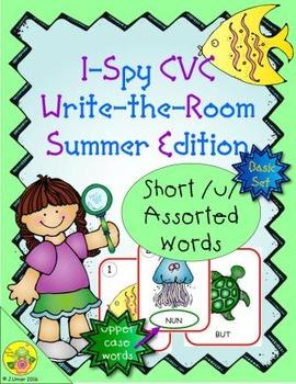 I-Spy CVC Word Work - Short /u/ Assorted Words (Summer Edi