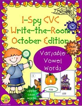 I-Spy CVC Word Work - Variable Vowel Words (Oct. Edition) Basic
