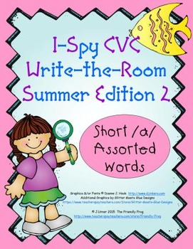 I-Spy CVC Tiny Words - Short /a/ Assorted Words (Summer Ed