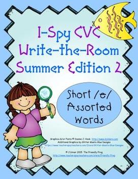 I-Spy CVC Tiny Words - Short /e/ Assorted Words (Summer Ed