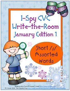 I-Spy CVC Tiny Words - Short /i/ Assorted Words (Jan. Edit